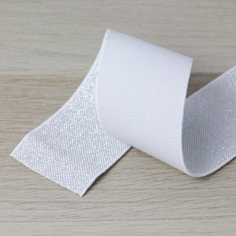 elastico per cinturini bianco e argento 50 mm