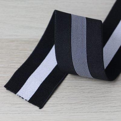 elastico per cinturini bianco e nero 50 mm