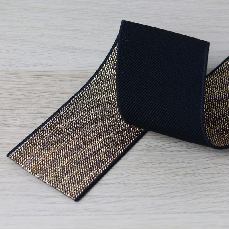 elastico per cinturini oro e nero 50 mm