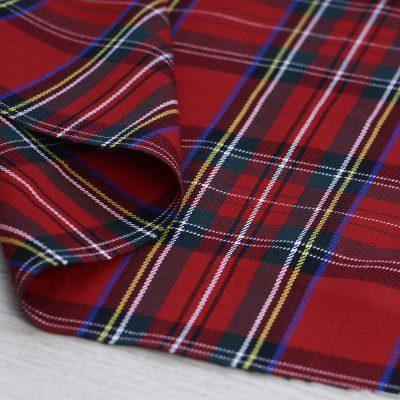 tessuto scozzese rosso per abbigliamento