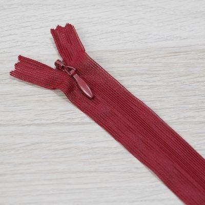 cerniera lampo invisibile rosso scuro