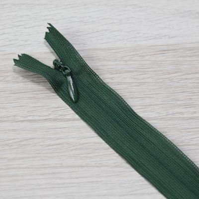 cerniera lampo invisibile verde