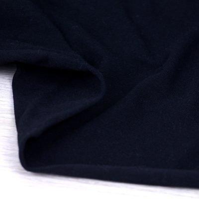 Tessuto in jersey di cotone tinta unita nero