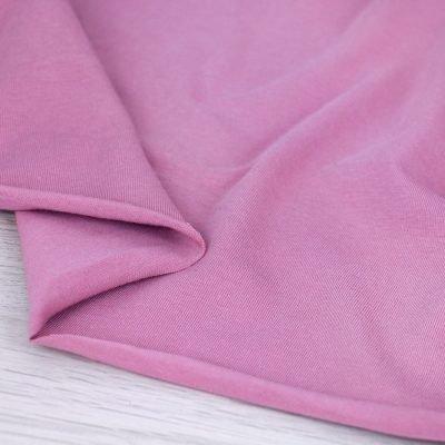 Tessuto in jersey di cotone tinta unita rosa antico