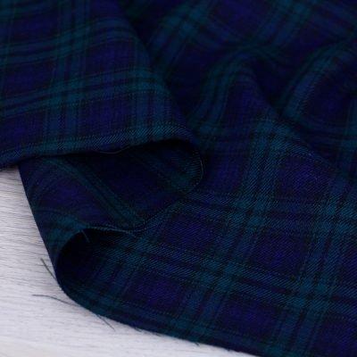 Tessuto tartan a quadri scozzesi - Blu