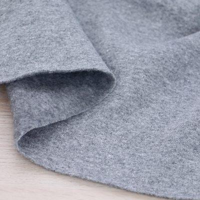 Tessuto per felpa tinta unita grigio