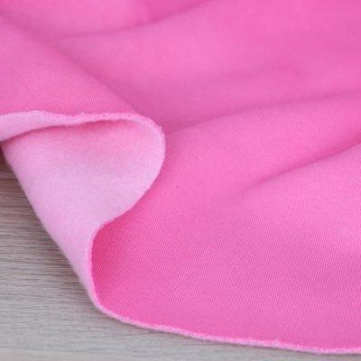 Tessuto per felpa tinta unita rosa