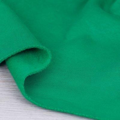 Tessuto per felpa tinta unita verde