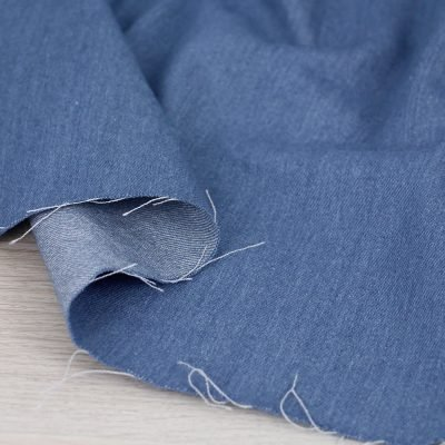 Tessuto denim blu jeans