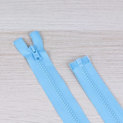 Cerniera lampo divisibile 55 cm - azzurro