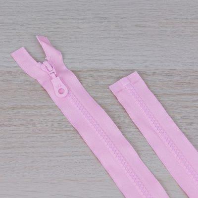 Cerniera lampo divisibile 55 cm - rosa