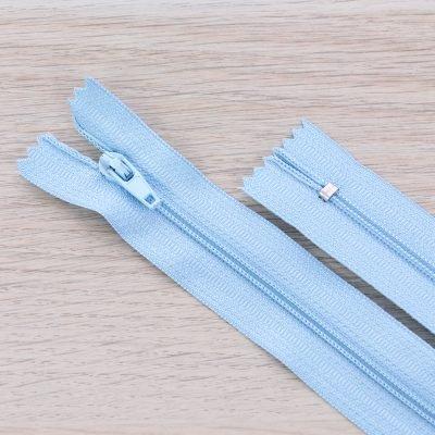 Cerniera lampo 3mm in nylon - azzurro
