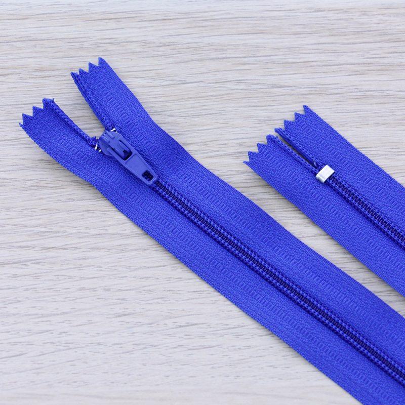 Cerniera lampo 3mm in nylon - blu