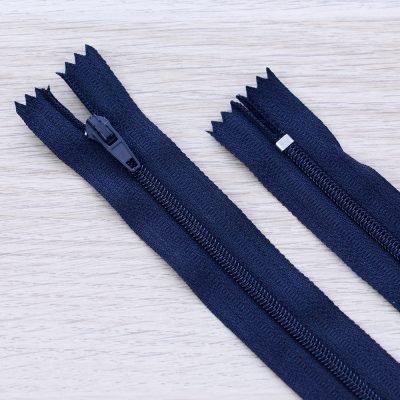 Cerniera lampo 3mm in nylon - blu navy