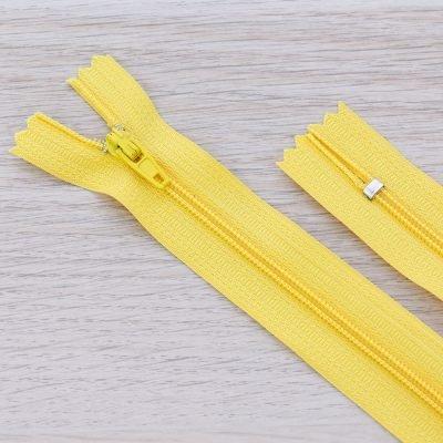 Cerniera lampo 3mm in nylon - giallo