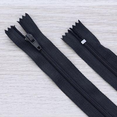 Cerniera lampo 3mm in nylon - nero