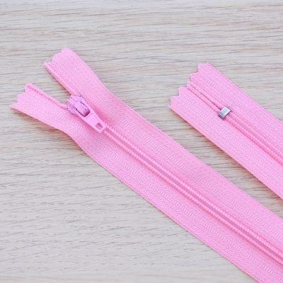 Cerniera lampo 3mm in nylon - rosa