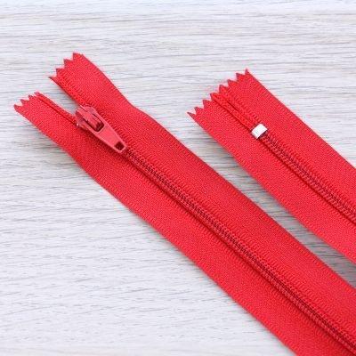 Cerniera lampo 3mm in nylon - rosso