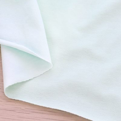 Tessuto in jersey di cotone tinta unita menta
