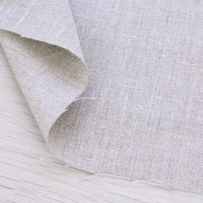 Tessuto 100% lino beige