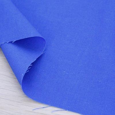 Tessuto misto lino blu