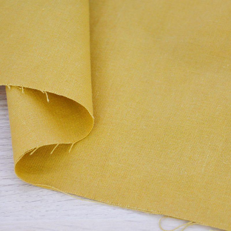 Tessuto misto lino giallo