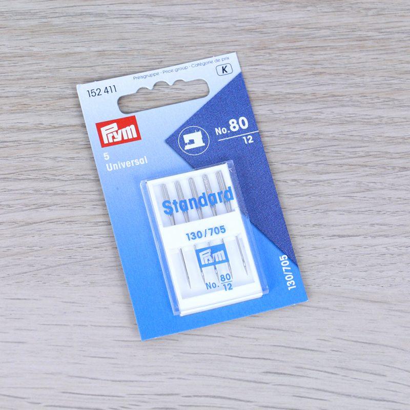 Aghi Standard 80 per macchina da cucire (testa piatta) Prym