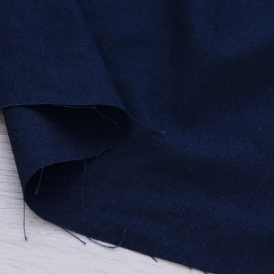 Tessuto misto lino blu navy