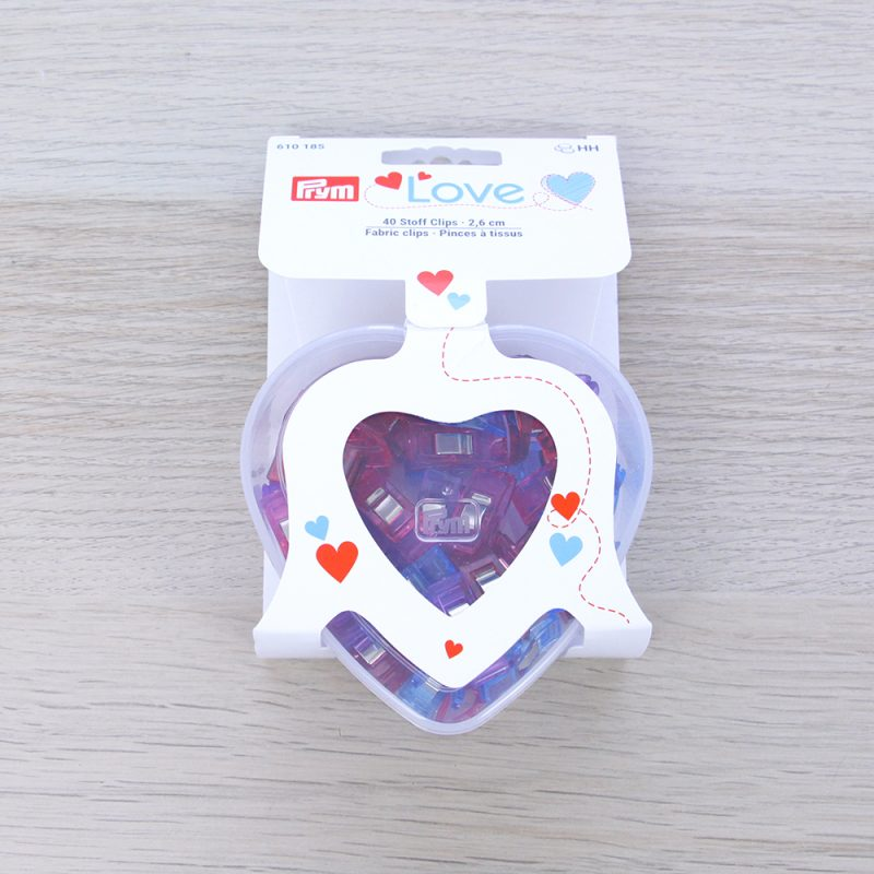 Scatola 40 clip per tessuto Prym Love