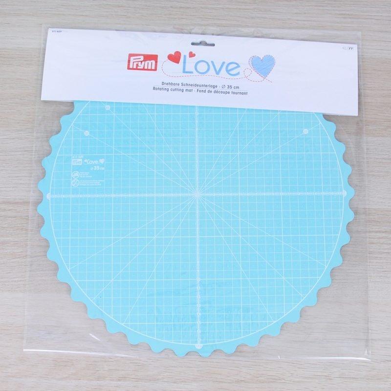 Tappetino da taglio rotondo girevole Prym Love (diametro 35 cm)