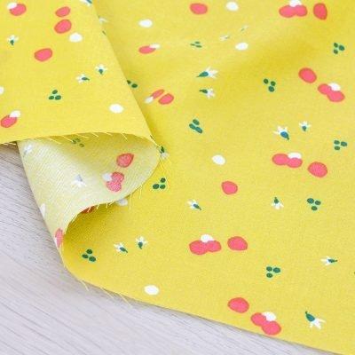 Tessuto in viscosa con stampa a fondo lime