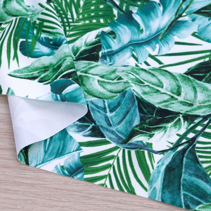 Lycra per costumi con foglie verdi