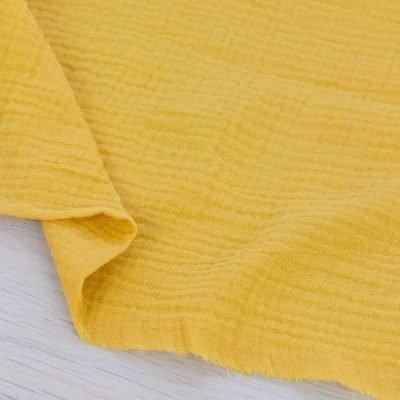Tessuto mussola di cotone giallo