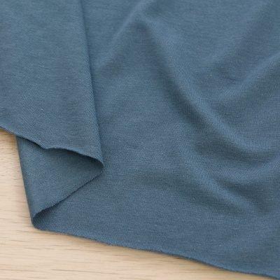Tessuto in jersey di bamboo tinta unita blu