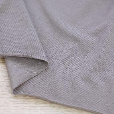 Tessuto in jersey di bamboo tinta unita grigio