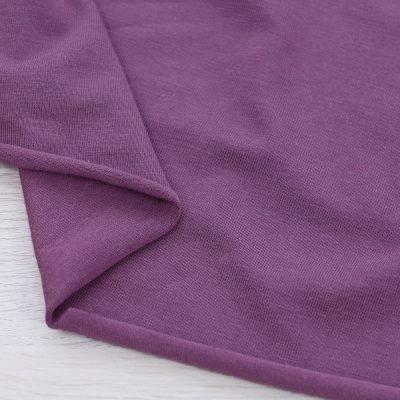 Tessuto in jersey di bamboo tinta unita viola