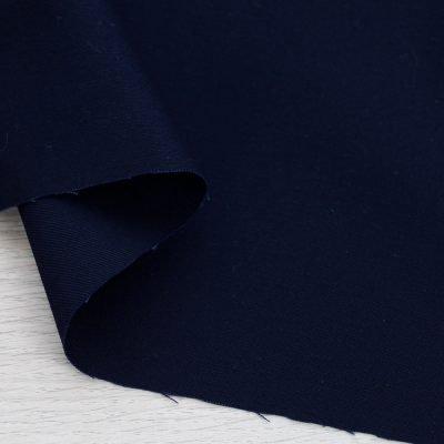 Twill di cotone blu tinta unita