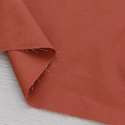 Twill di cotone marrone tinta unita
